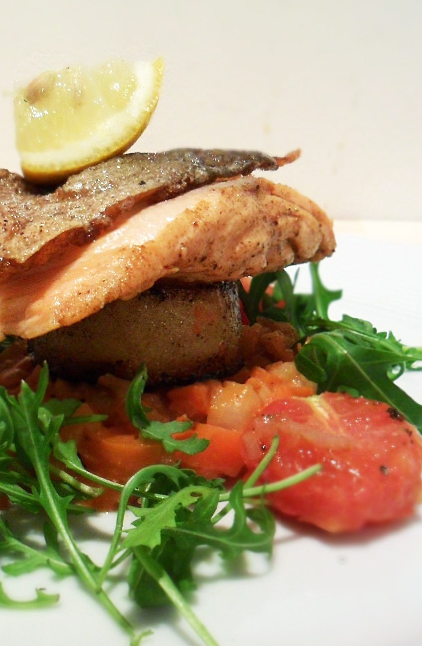 Cherry Tomato Tequila Butter Salsa With Fried Fish Recipe ...
