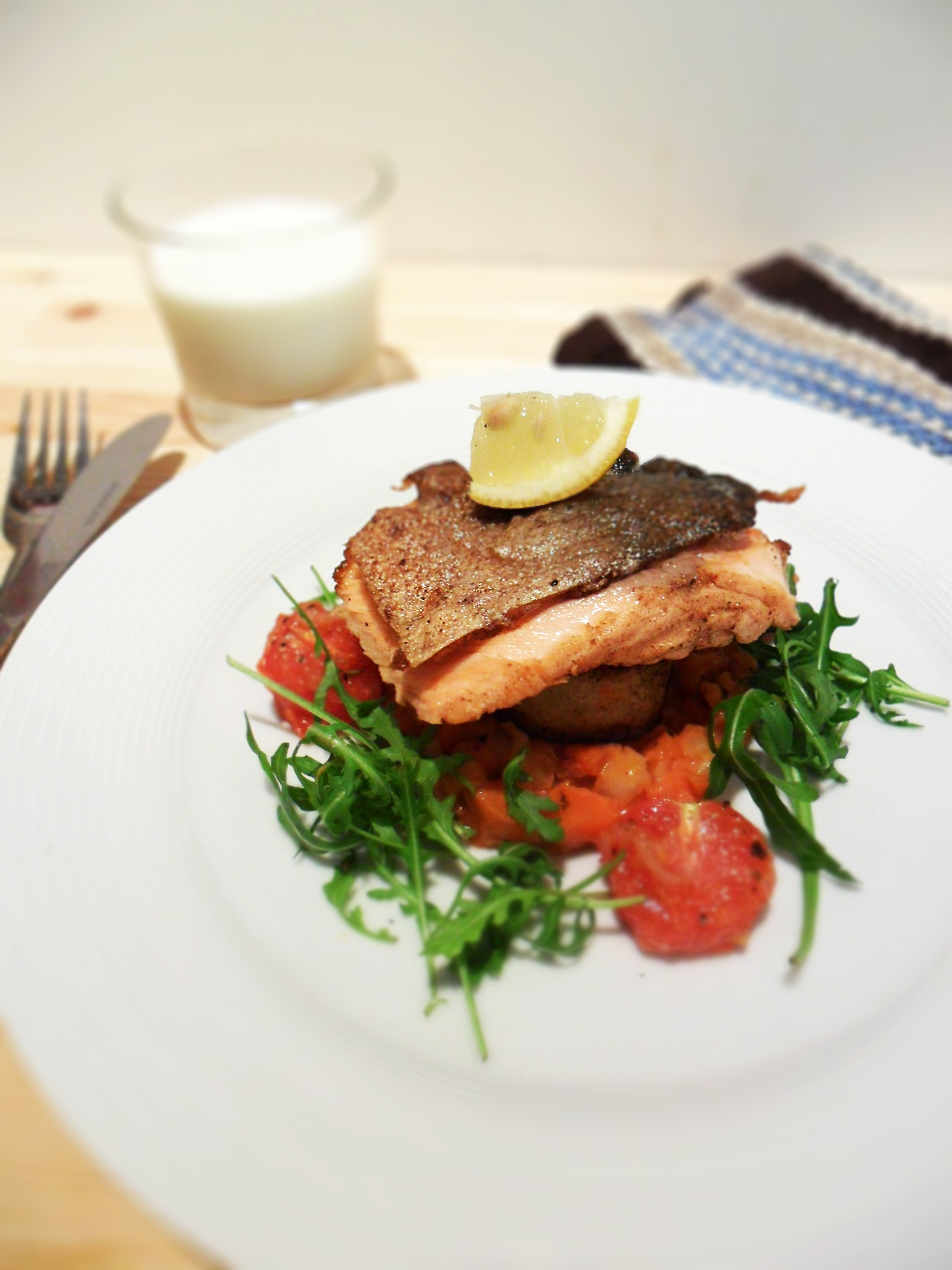 Butter Salmon, Fondant Potato, Fennel Salsa | Cook For Myself | Skinny ...