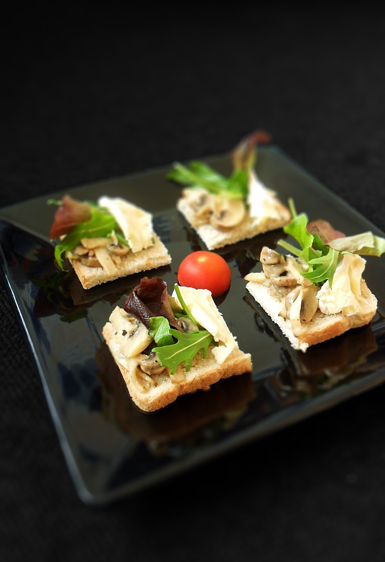 Mushroom & Brie Bruschetta | Cook For Myself | Skinny Nigel